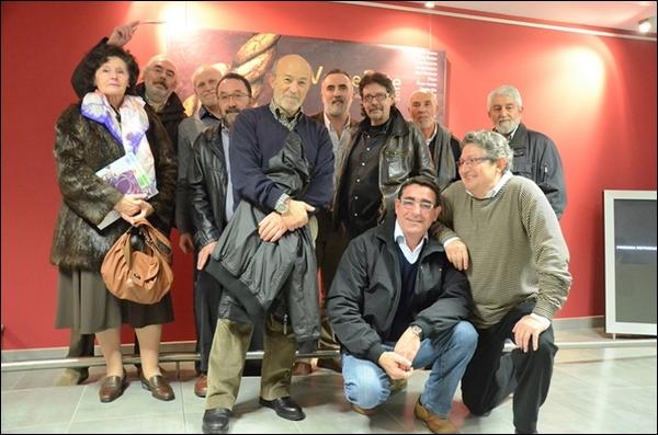 Algunos de los autores y responsables de VacceArte en la inauguración de la exposición en el Museo de la Universidad de Valladolid.