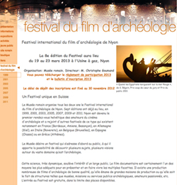 Web del Festival de Cine de Arqueología de Nyon.