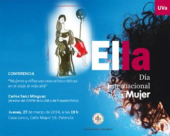 La primera conferencia coincide con la iniciativa del Día Internacional de la Mujer en la Universidad de Valladolid.