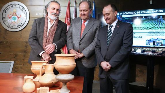 Carlos Sanz, Pablo Álvarez y Daniel Miguel San José