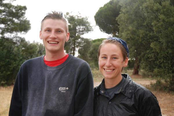 Jaron y Kristen en la senda del Duero