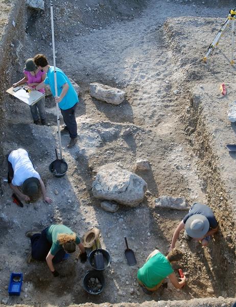 Vista del desarrollo de la excavación