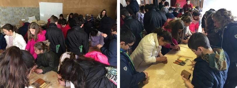 Los talleres del CEVFW llenos de jóvenes promesas de arqueólogos y ceramistas