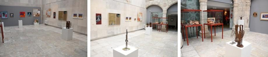 Vistas de la sala de exposiciones: diálogo entre pasado y presente