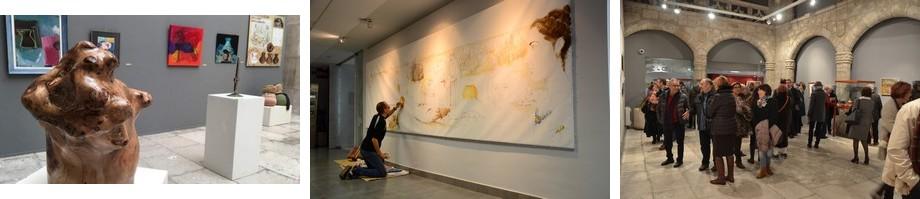 Luis Pascual trabajando en su mural