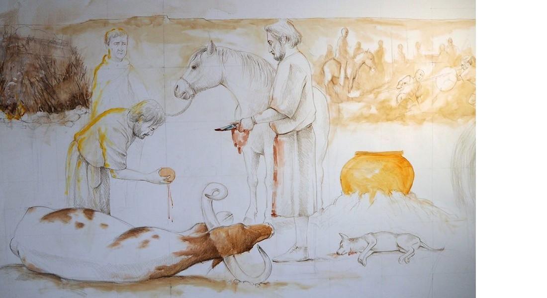 Detalle del mural de Luis Pascual (fotografía de Marco Temprano)