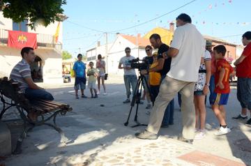 Nuestro trabajo generó expectación entre la gente de la localidad.