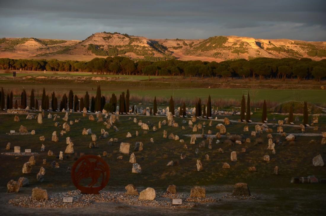 Vista del área de excavación de la necrópolis de Las Ruedas