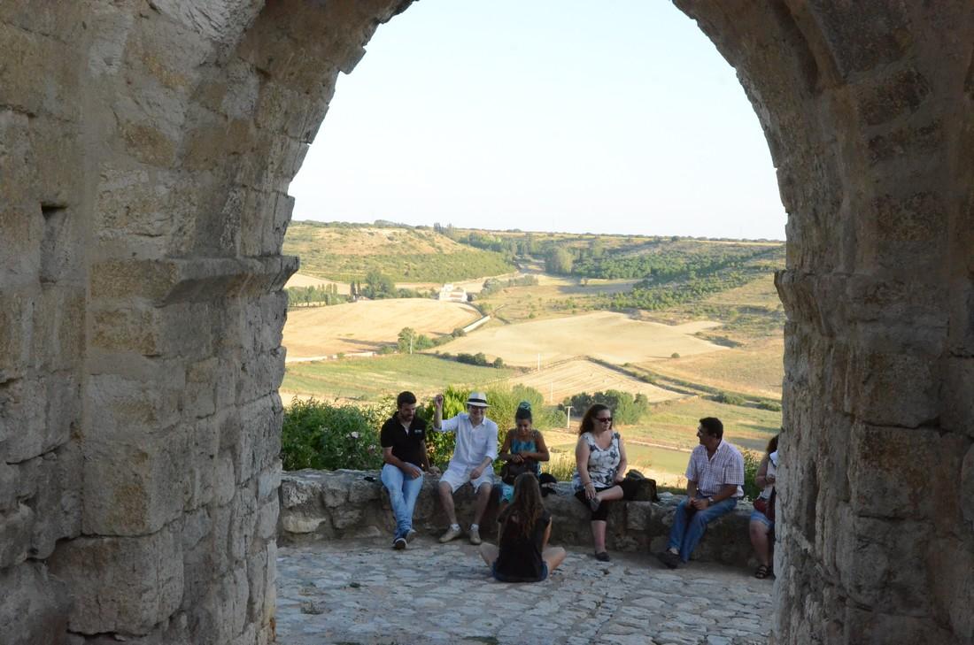 Teachers and students enjoy a cultural visit through Castilian lands