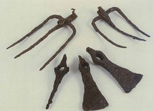 Farm tools found in a house from the 1st century B.C. in Las Quintanas